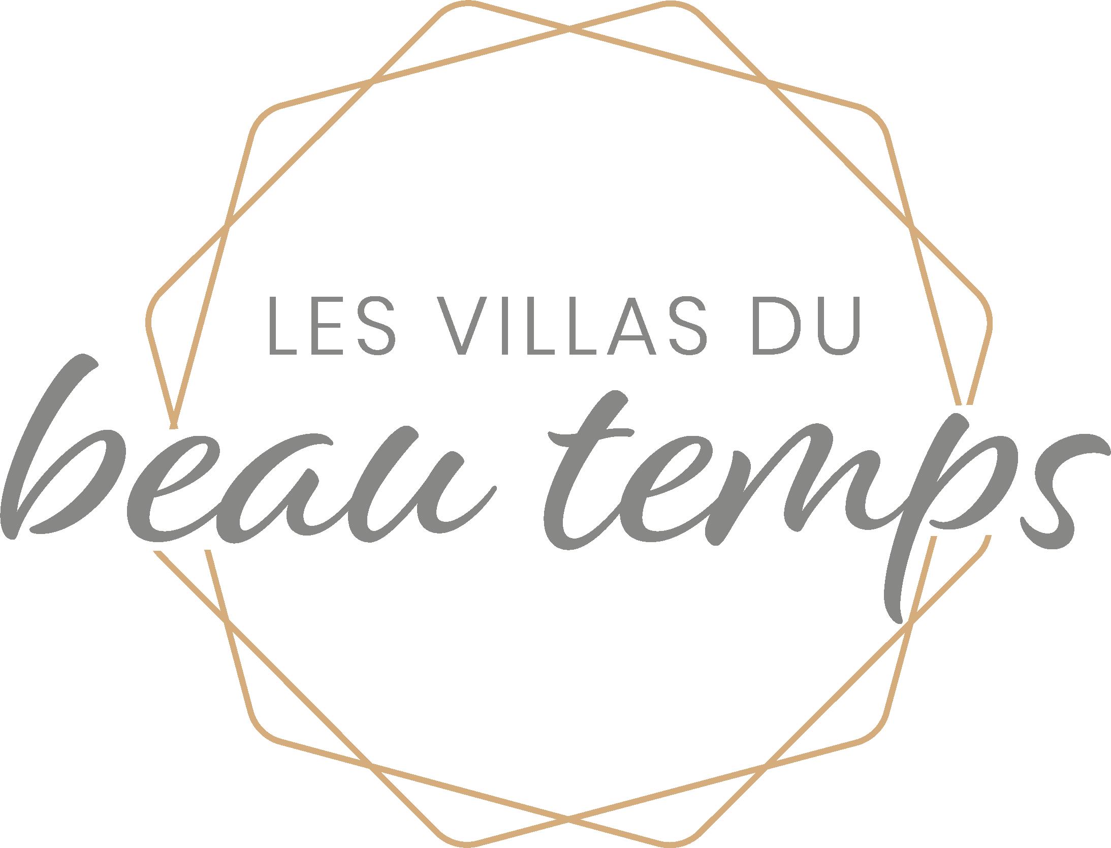 Logotype du programme immobilier Les Villas du Beau Temps à Agde, par la société LLZ de Ludovic LIRON. Réalisation par l'agence de communication tamline www.tamline.fr, tous droits réservés.